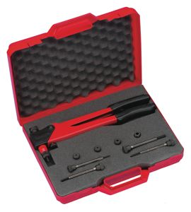 RIVETING TOOL SETS FOR THREADED INSERTS