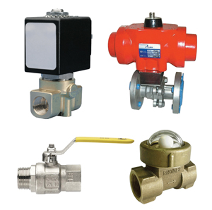Ball, Gate, Check & Solenoid Valves - Brass, Plastic & Stainless Steel