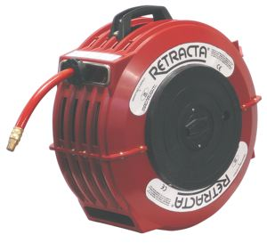 RED REEL COMPLETE WITH HOSE - FOR BREATHING AIR