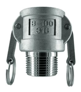 TYPE B - BSPP FEMALE COUPLER X BSPT MALE END