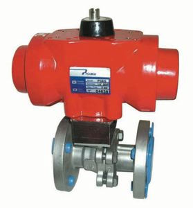 FLANGED BALL VALVES C/W PNEUMATIC ACTUATORS - STAINLESS STEEL