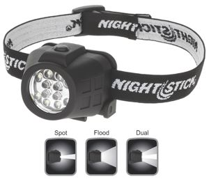 NIGHTSTICK HEADLAMP - NIGHTSTICK DUAL LIGHT HEADLAMP - 50M