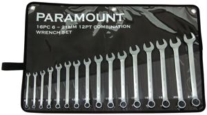 COMBINATION METRIC WRENCH SET - CHROME