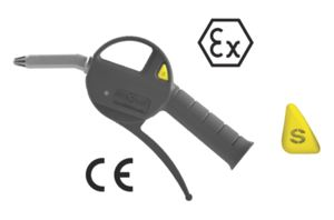 SILENCED SAFETY BLOW GUN WITH PLASTIC NOZZLE