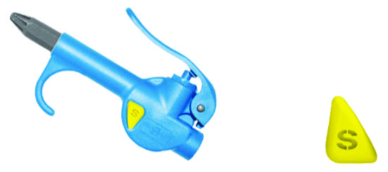 SAFETY COMPACT BLOW GUN WITH PLASTIC NOZZLE