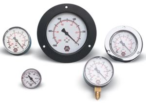 VACUUM GAUGES - BOTTOM CONNECTION GLYCERINE FILLED
