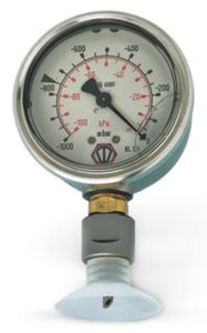 VACUUM GAUGE WITH STEEL PUNCH