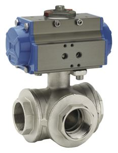 THREE WAY BALL VALVE - T PORT