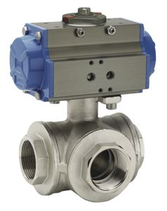 THREE WAY BALL VALVE - L PORT