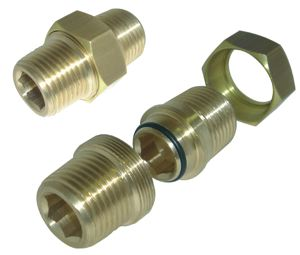 EQUAL 3-PIECE CONNECTOR - UNPLATED