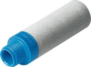 Fevas 10 Pieces 3//8 BSP Pneumatic Yellow Plastic Silencer Connector Noise Reduce Air Valve Muffler Fitting