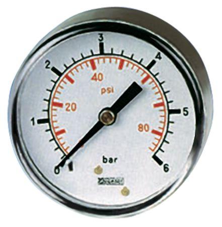 1//4 bsp rear entry 1 BAR 50mm Dry//Pneumatic pressure gauge 0-15 PSI