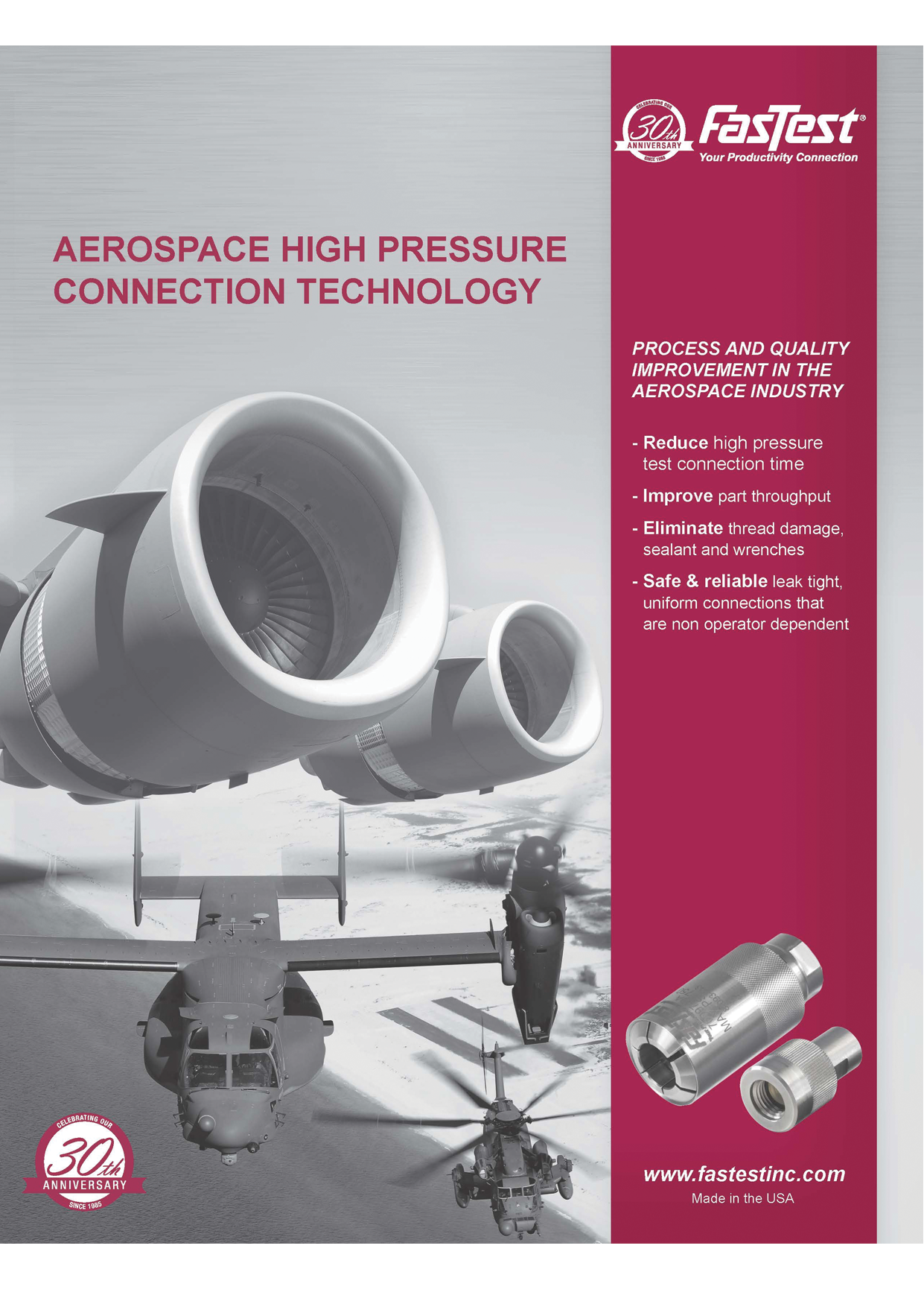 Aerospace High Pressure Connection Technology
