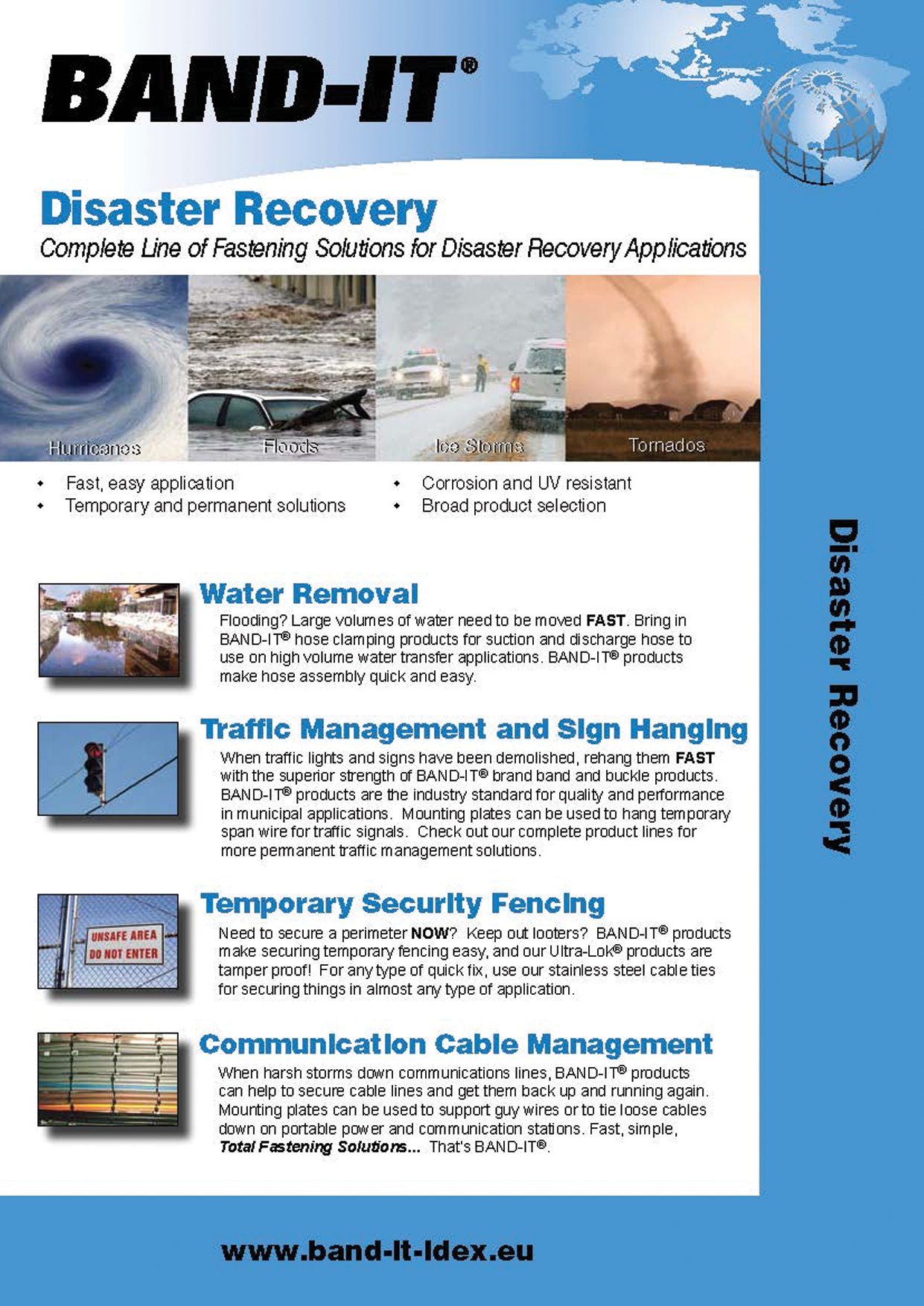 Disaster Recovery Complete Line of Fastening Solutions for Disaster Recovery Applications