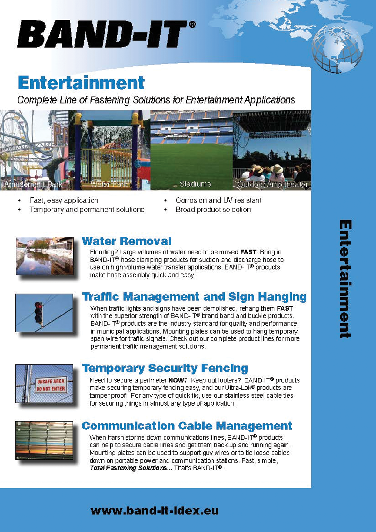 Entertainment Industry - Complete Line of Fastening Solutions for Disaster Recovery Applications