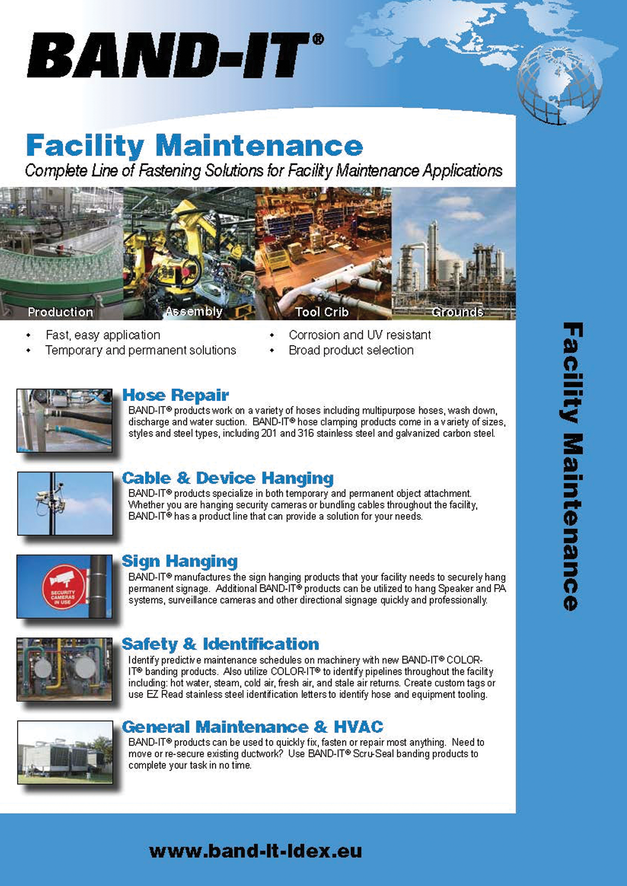 Facility Maintenance - Complete Line of Fastening Solutions for Facility Maintenance Applications