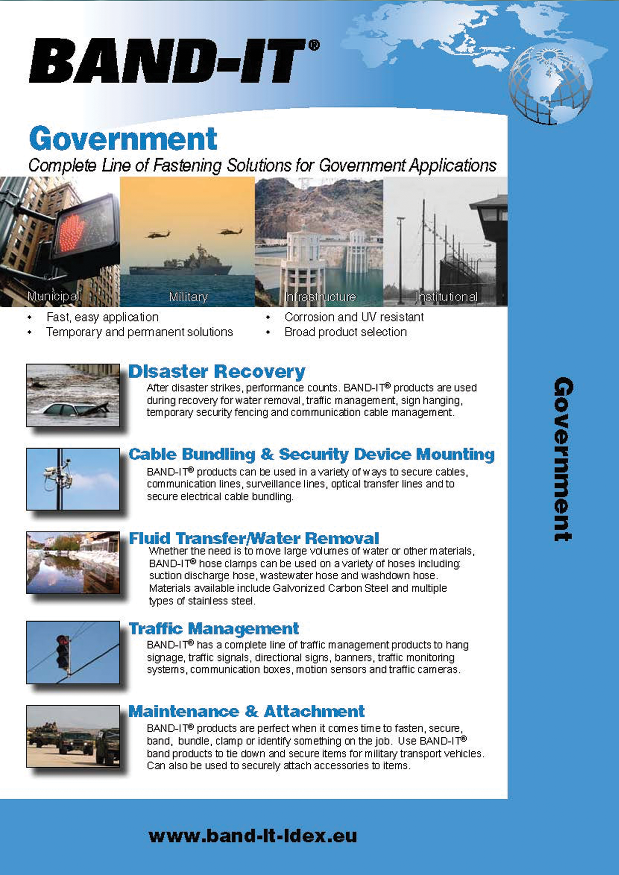 Government Products - Complete Line of Fastening Solutions for Facility Maintenance Applications