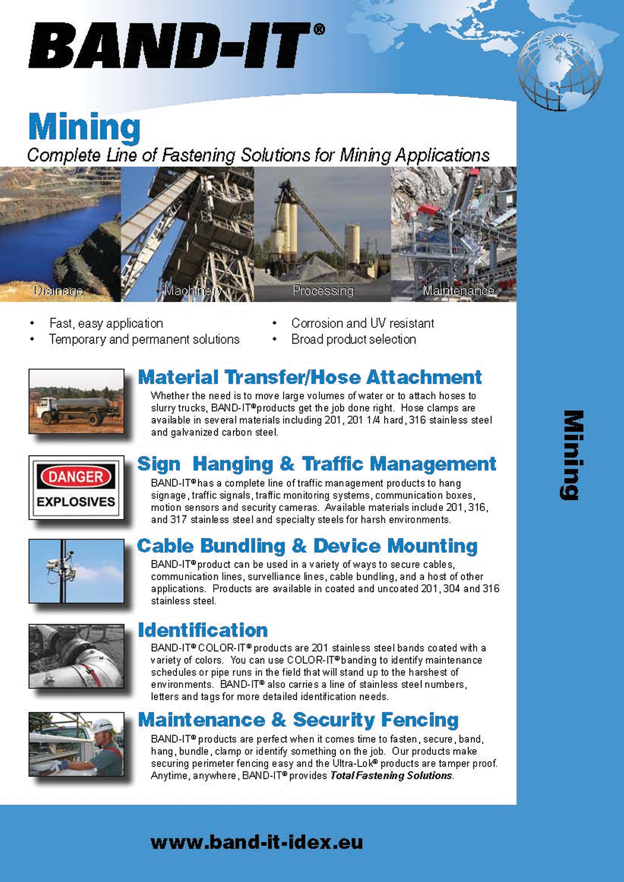 Mining - Complete Line of Fastening Solutions for Facility Maintenance Applications