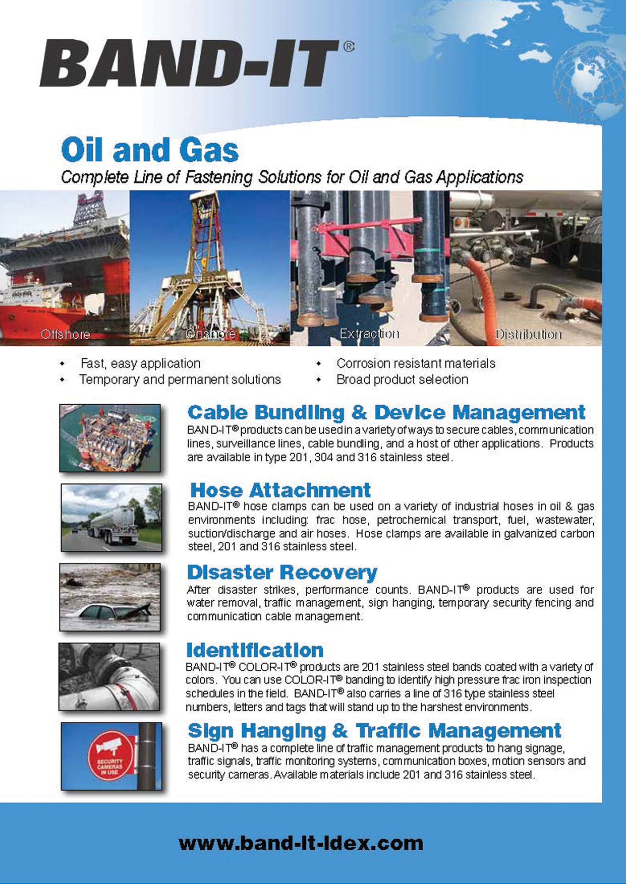 Oil and Gas Complete Line of Fastening Solutions for Oil and Applications