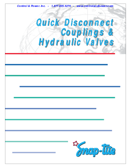 Quick Disconnect Couplings & Hydraulic Valves