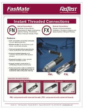 FasMate Instead Thread Connections