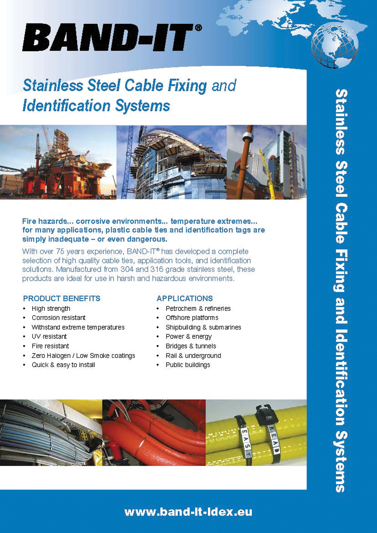 Stainless Steel Cable Fixing and Identification Systems