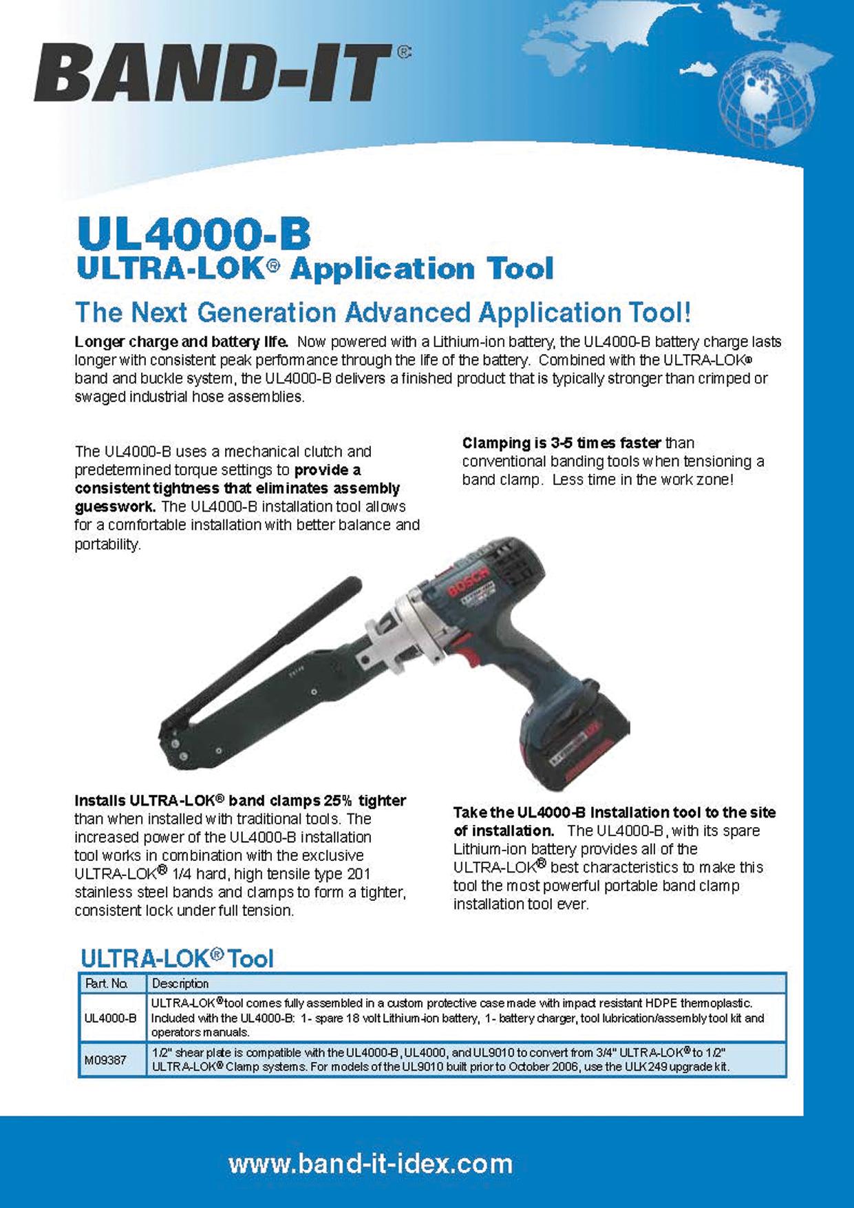 UL4000-B Ultra-Lok Application Tool