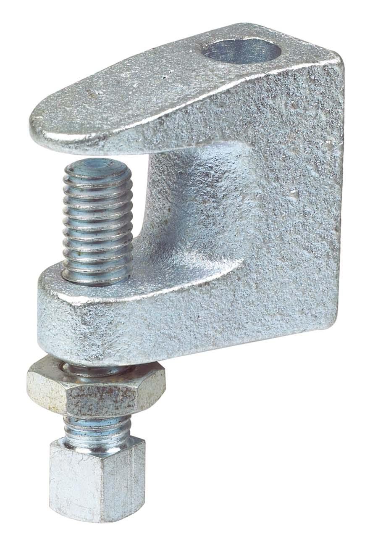 PARKAIR - GIRDER CLAMP - BRIGHT ZINC PLATED SIZE: M10 - Part number AL-MI10GC
