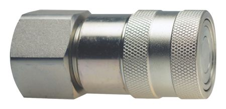 """PARKAIR - COUPLING - FLAT FACE - BSPP FEMALE - ISO 16028 THREAD: 1/4"""" BSPP, WORKING PRESSURE: 300 bar - Part number B60-06F"""