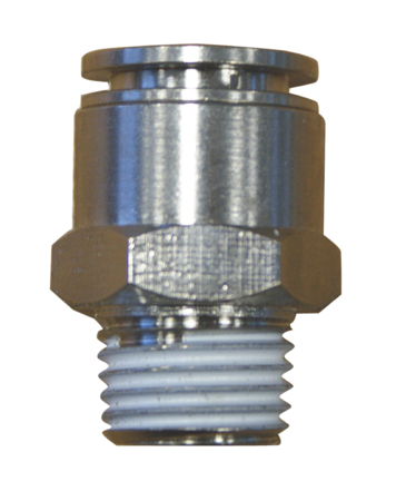 """PARKAIR - MALE STUD - WITH NBR SEAL TUBE OD: 6 mm, THREAD: 1/8"""" BSPT - Part number BMPC6-01"""