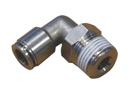 """PARKAIR - MALE STUD ELBOW - WITH NBR SEAL TUBE OD: 6 mm, THREAD: 1/8"""" BSPT - Part number BMPL6-01"""