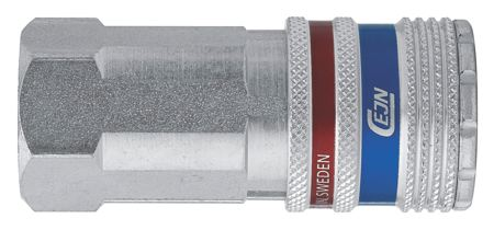"CEJN - CEJN SERIES 320 - FEMALE THREAD CONNECTION: 1/4"" BSPP - Part number C103202202"
