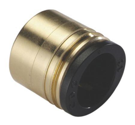 Fevas Tube Size 8mm-3//8 PT Thread Pneumatic Brass Bulkhead Fitting