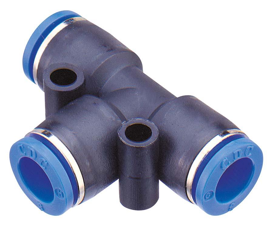 CDC - PUT - EQUAL UNION TEE TUBE OD: 8 mm - Part number CDPUT08N