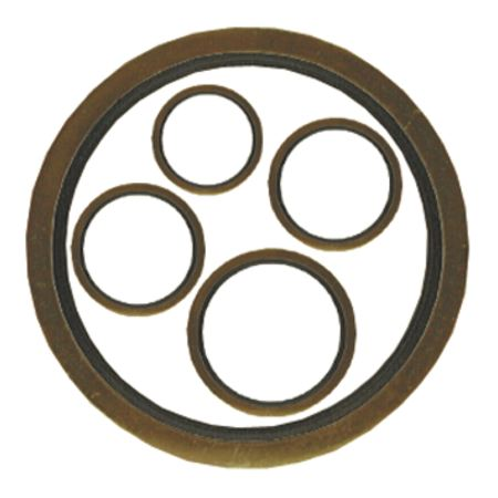 "PARKAIR - BONDED WASHERS - IMPERIAL TO FIT MALE: 1/8"" BSPP, INSIDE DIA: 10.37 mm - Part number D400 020 02"