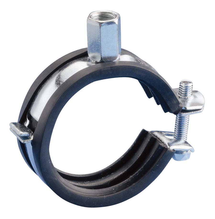 "ERICO - CADDY® 243 SUPER FIX M8/M10 - 1 PIECE PIPE CLIP BAND WIDTH: 48 - 52 mm, PIPE OD: 1.1/2"" - Part number ER400070"
