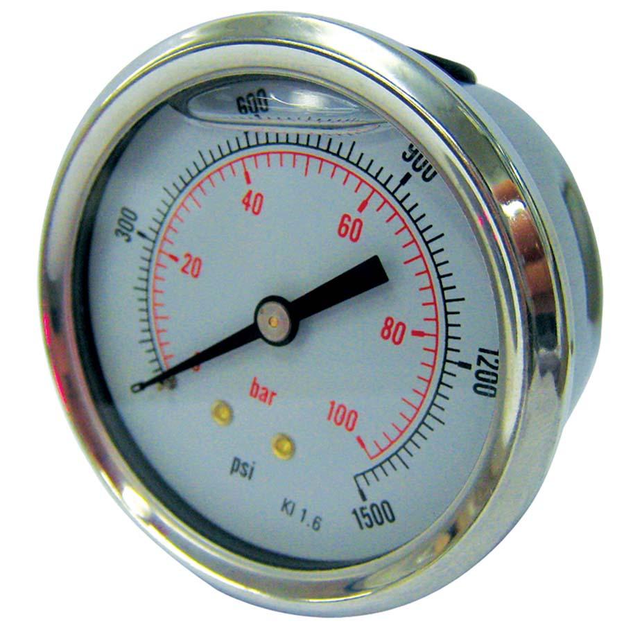 40mm Dry//Pneumatic pressure gauge 0-300 PSI 21 BAR 1//8 bspt base entry