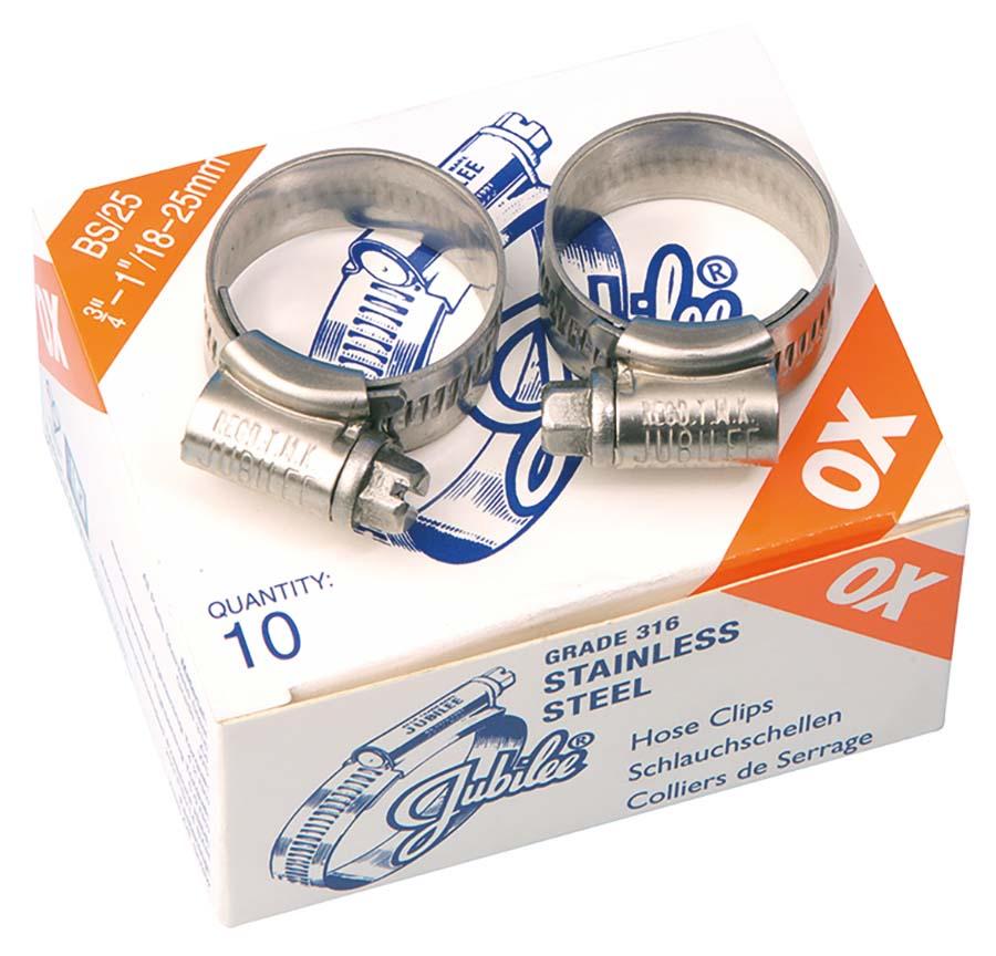 Colliers de serrage Jubil/é zingu/é 40 mm x 55 mm x 2 pi/èces