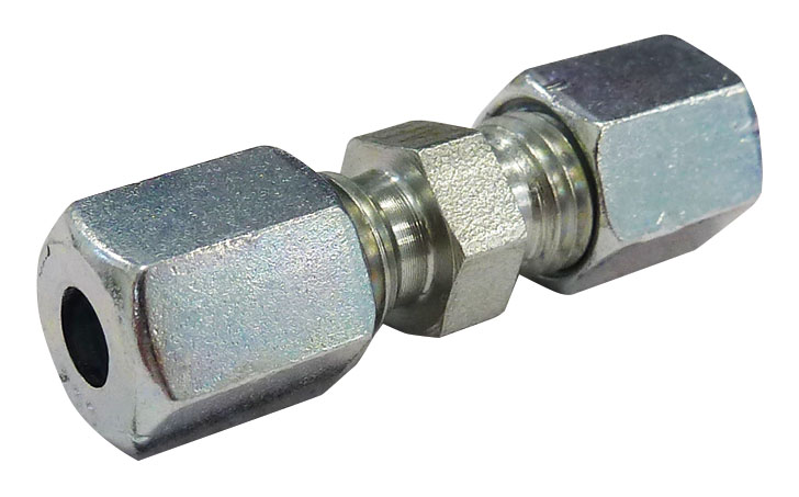 LUBETEC UK - LL COMPRESSION CONNECTOR - 304 STAINLESS STEEL TUBE OD: 6 mm, TUBE OD: 6 mm - Part number LU-1290S/S