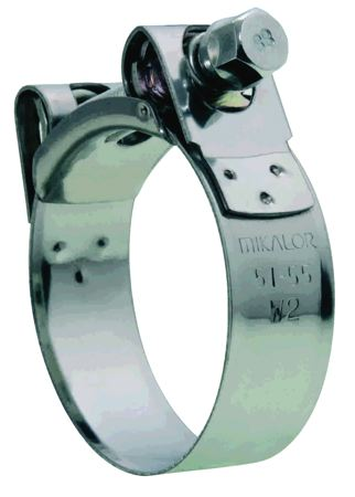 MIKALOR - SUPRA W2 HOSE CLAMPS - STAINLESS STEEL BAND CLAMPING RANGE: 31 – 34 mm, BAND WIDTH: 20 mm - Part number M0301908-0