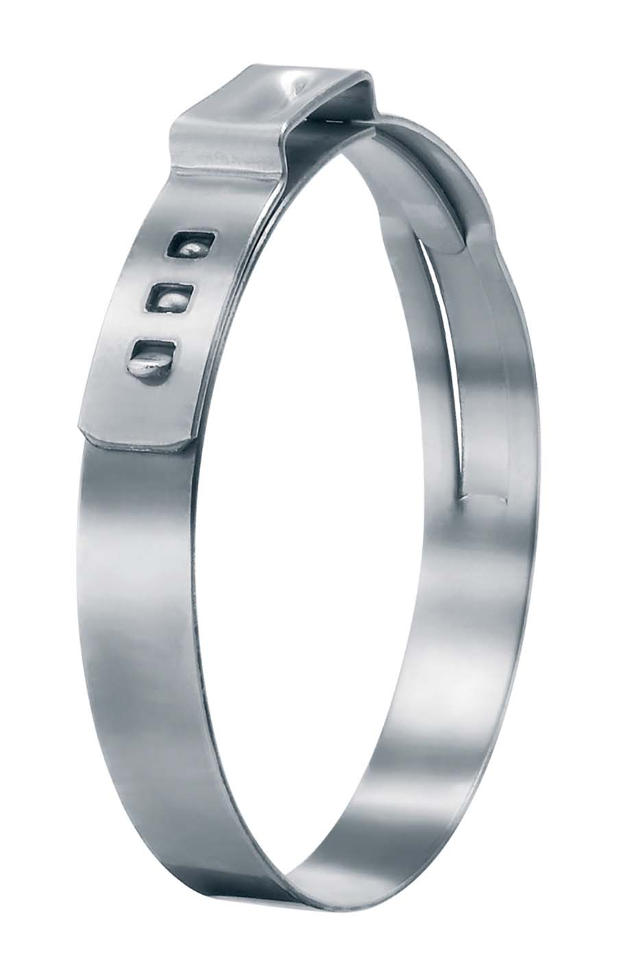 OETIKER - 7 MM BAND WIDTH, 0.6 MM THICKNESS SIZE RANGE: 13.2 - 15.7 mm, EAR WITH INSIDE: 8 mm - Part number OET16700016