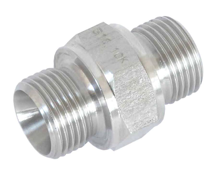 1//4 X 1//4 BSP//NPT MALE 316 ST.STEEL Hydraulic Stainless Steel Adaptors and Fittings BSPP Male x NPTF Male