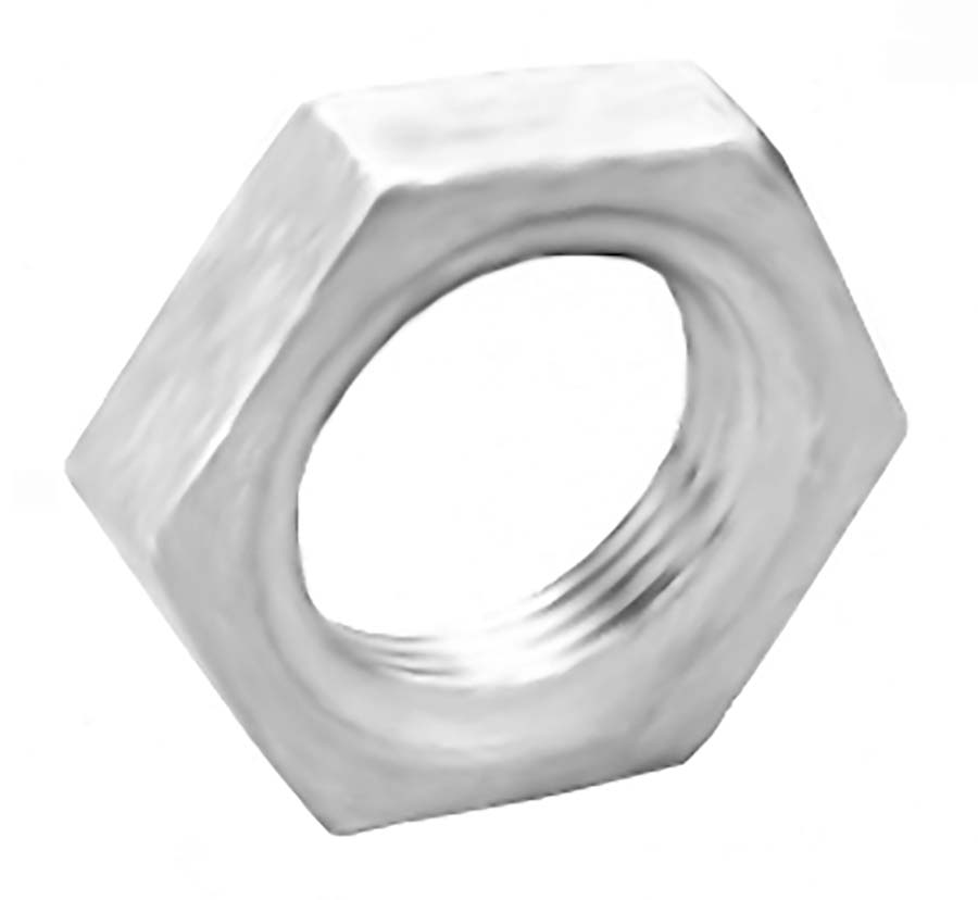 Pack//6 10-32 LH Aluminum Jam Nuts