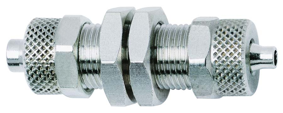 Size : 6mm to 8mm BIMUS 1pc Trough-Wall Reducing Fitting 6 to 8mm//8 to 10mm Hose Brass Bulkhead Hosetail Hose Pannel Mount Barb Pipe Fitting Connector