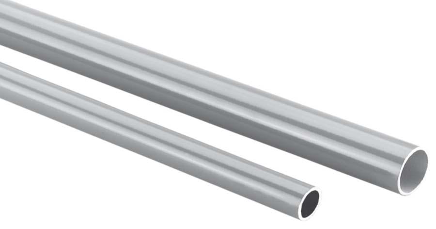 SICOVACUUM - GREY ALUMINIUM PIPE - 6 METRE LENGTH PIPE OD: 63 mm, PIPE ID: 59 mm - Part number r0590630596G