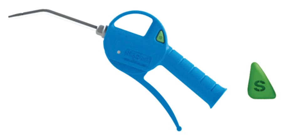 SICOMAT - STANDARD BLOW GUN WITH 100 MM TUBE DESCRIPTION: Blow gun with steel nozzle - Part number rP100100000