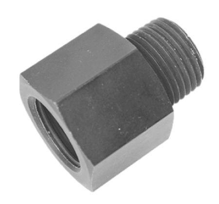 AC PERFORMANCE 1//2 male NPT to 1//4 female NPT Straight Blue Aluminum Water or Oil Fuel Fitting Hollow Gauge Sensor Reducer Adapter